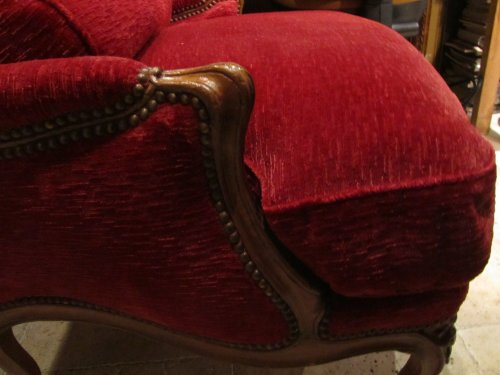 Wide Louis XV beechwood Bergere stamped Pierre Falconet  -