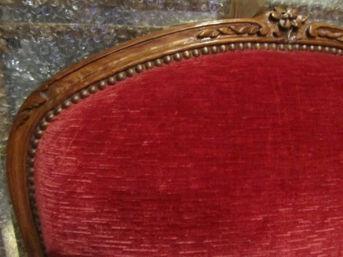 18th century - Wide Louis XV beechwood Bergere stamped Pierre Falconet