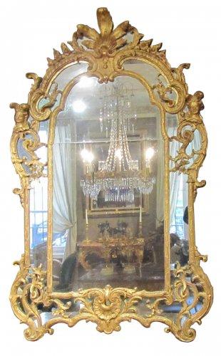 """A Regence mirror """"aux Espagnolettes """""""