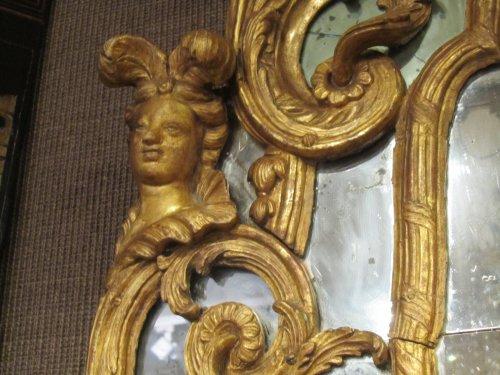 """Mirrors, Trumeau  - A Regence mirror """"aux Espagnolettes """""""