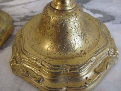 A pairof Regence ormolu clandlesticks - Lighting Style French Regence