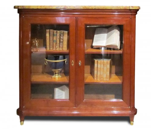 A pair of Louis XVI bookcases stamped Etienne Avril