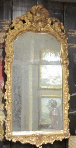 A pair of German Baroque mirrors early 18th century - Mirrors, Trumeau Style French Regence