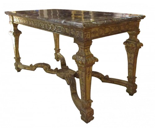A Louis XIV giltwood center table