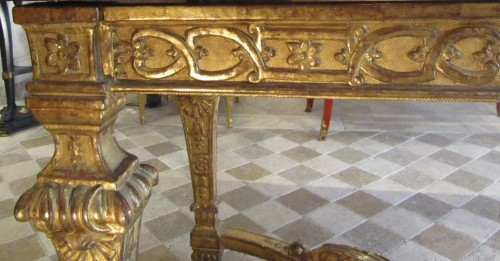 A Louis XIV giltwood center table -