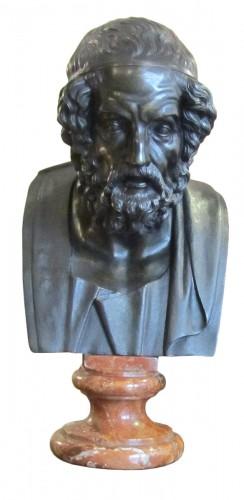 Homère' s bust bronze