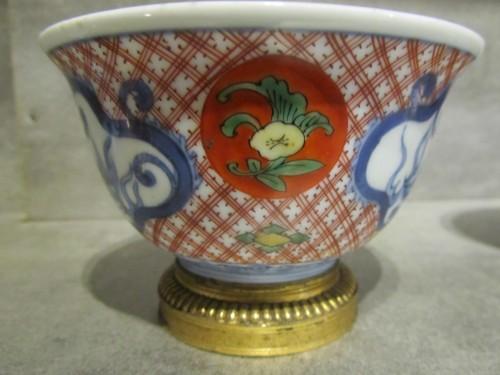 Decorative Objects  - A pair of Régence ormolu-mounted Japanese pots