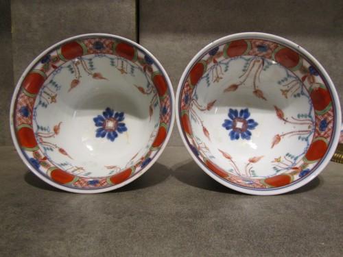 A pair of Régence ormolu-mounted Japanese pots - French Regence