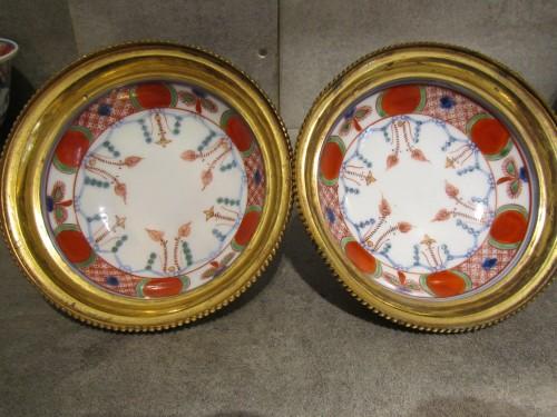 French Regence - A pair of Régence ormolu-mounted Japanese pots