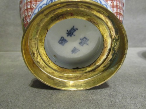 Antiquités - A pair of Régence ormolu-mounted Japanese pots