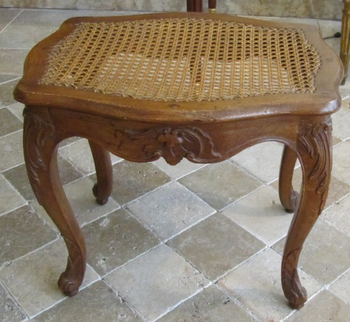 Seating  - A pair of Louis XV beechwood  Parisian stools .