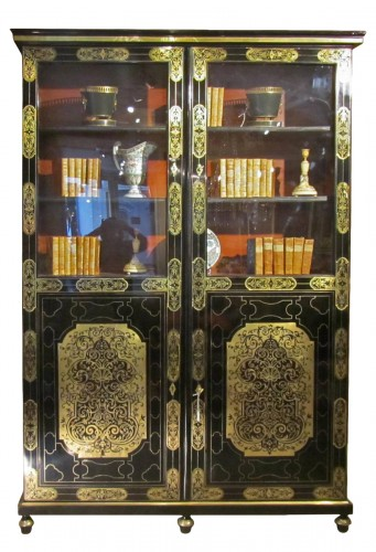 French Louis XIV Boulle Book case