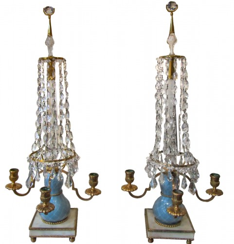 Pair of Swedish girandoles, late 18th
