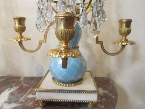 Pair of Swedish girandoles, late 18th - Lighting Style Louis XVI