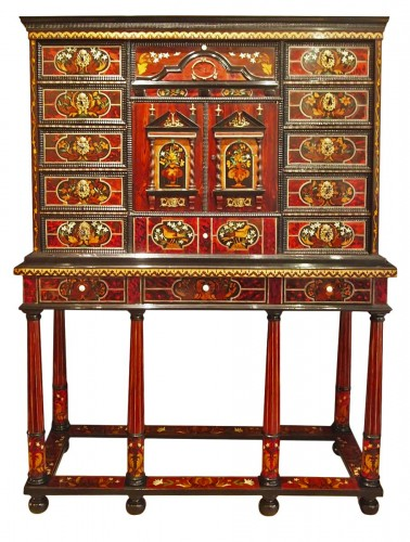 Louis XIV period cabinet with jasmine flowers
