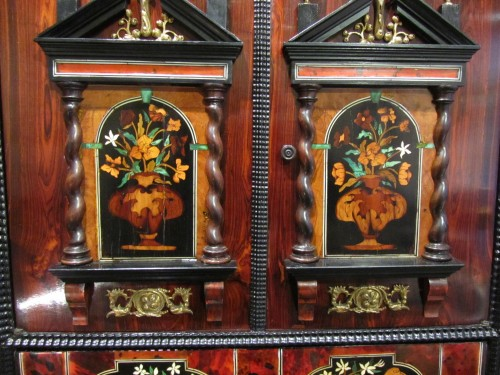 Furniture  - Louis XIV period cabinet with jasmine flowers