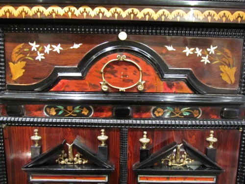 Louis XIV period cabinet with jasmine flowers - Louis XIV