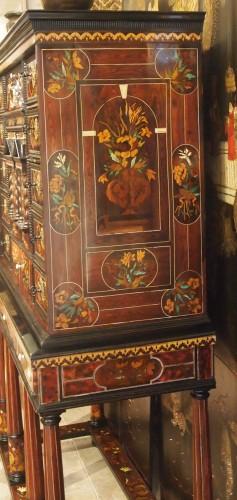 Antiquités - Louis XIV period cabinet with jasmine flowers