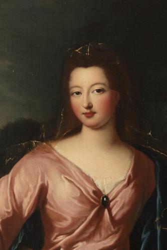 Antiquités - Portrait of Françoise Marie de Bourbon with her son, attribute to P. Gobert