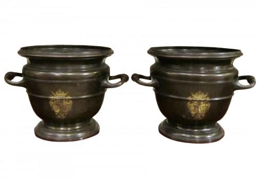 "A pair of Regence style bronze "" Seaux à Rafraîchir """