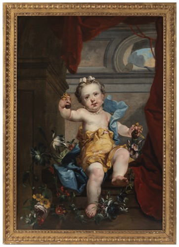 A pair of oils on canvas Eighteen Century . - Paintings & Drawings Style Louis XVI