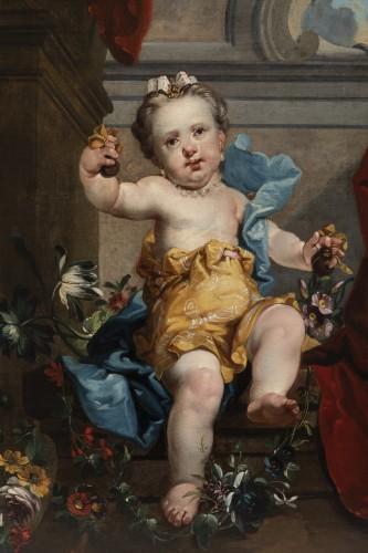 A pair of oils on canvas Eighteen Century . -