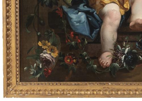 A pair of oils on canvas Eighteen Century . - Louis XVI