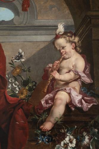 Louis XVI - A pair of oils on canvas Eighteen Century .