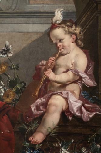 Antiquités - A pair of oils on canvas Eighteen Century .