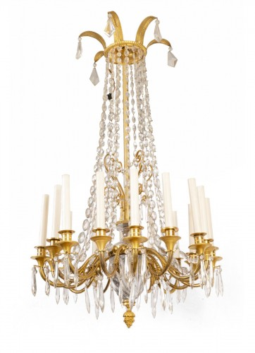 A french Empire Basket -Shaped Chandelier