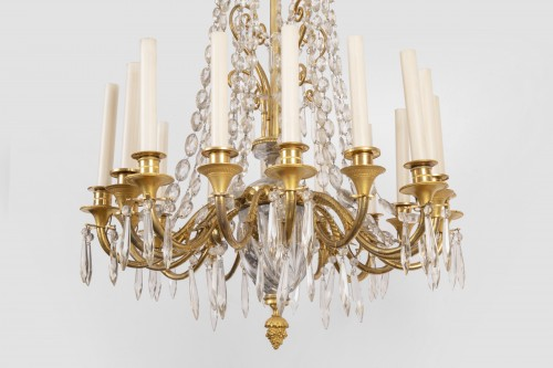 A french Empire Basket -Shaped Chandelier  - Lighting Style Empire
