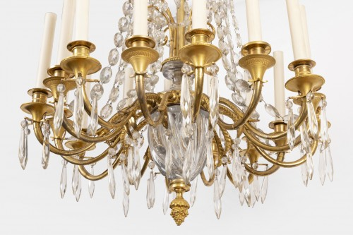 Lighting  - A french Empire Basket -Shaped Chandelier