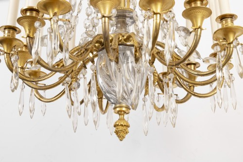 A french Empire Basket -Shaped Chandelier  -