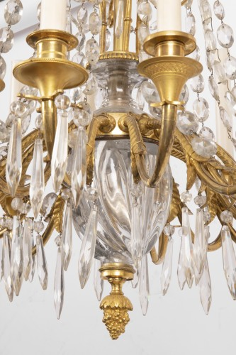 19th century - A french Empire Basket -Shaped Chandelier