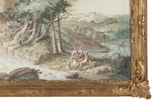 A pair of Eighteenth watercoloured Gouaches -