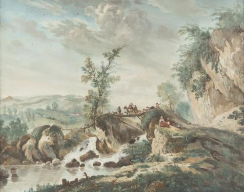 Antiquités - A pair of Eighteenth watercoloured Gouaches