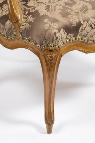 18th century - A set of four Louis XV  fauteuils à la Reine stamped Henri Amand