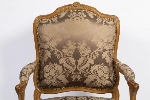 Antiquités - A set of four Louis XV  fauteuils à la Reine stamped Henri Amand