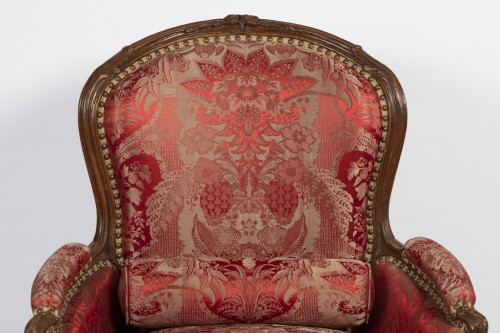 Seating  - A Louis XV beechwood Bergere