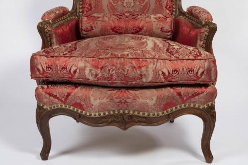 A Louis XV beechwood Bergere -