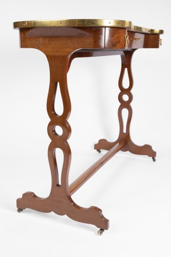 Furniture  - A Mahogany Louis XVI Table