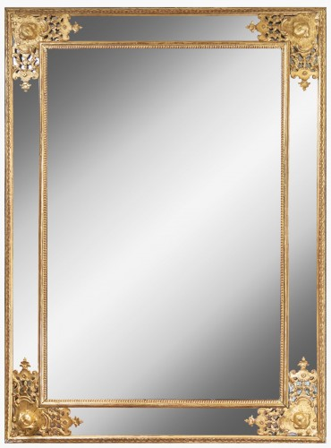 An Regence giltwood glass Mirror