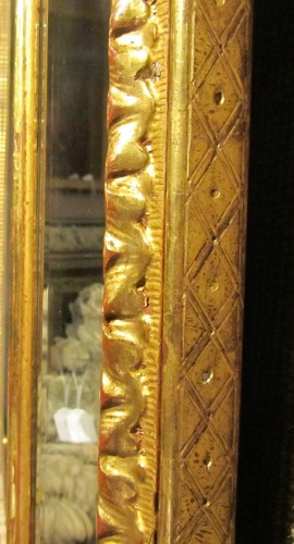 Mirrors, Trumeau  - An Regence giltwood glass Mirror