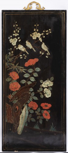 A set of four Lacquer Panels China -