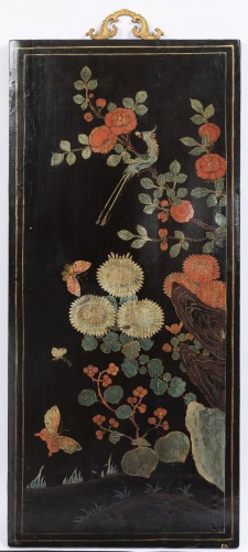- A set of four Lacquer Panels China