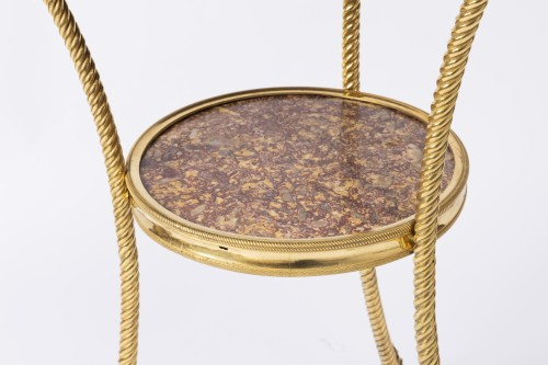 Furniture  - A Rarely Louis XVI ormolu Gueridon and Brocatelle D'Espagne