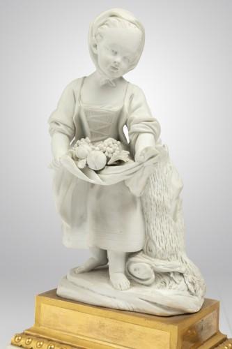 "A pair of Sèvres Porcelain "" Biscuits "" Eighteen century - Porcelain & Faience Style Louis XVI"
