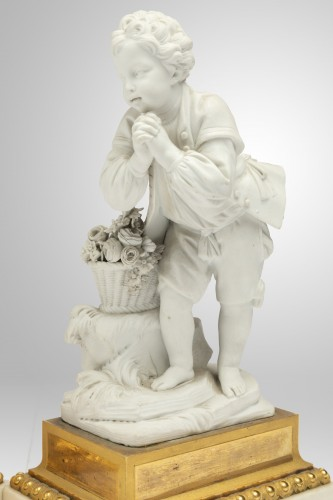 """18th century - A pair of Sèvres Porcelain """" Biscuits """" Eighteen century"""