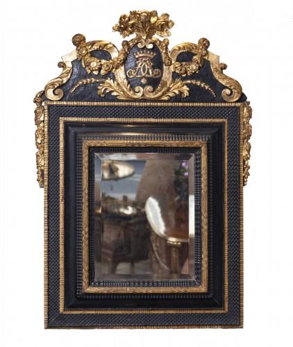 An French ebonised Louis XIV Mirror