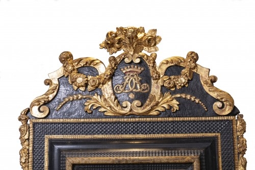 An French ebonised Louis XIV Mirror - Mirrors, Trumeau Style Louis XIV